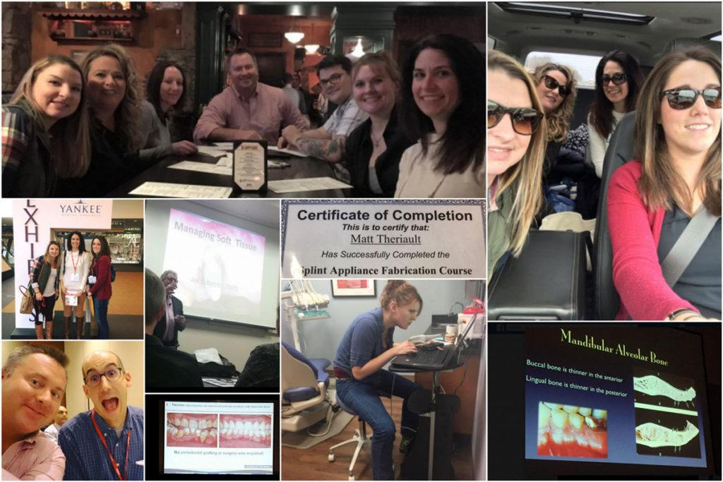 collage of photos from continuing education classes in 2017