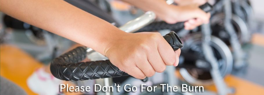 going for the burn in spin class