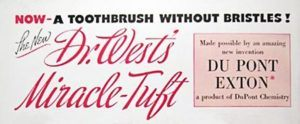 1938 Dr. West's Miracle Tuft toothbrush ad