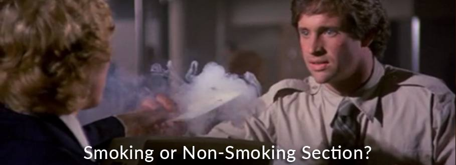 smoking or non-smoking section scene from airplane movie